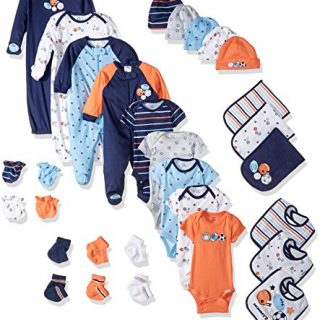 Gerber Baby Boys' 30-Piece Essentials Gift Set, Little Athlete