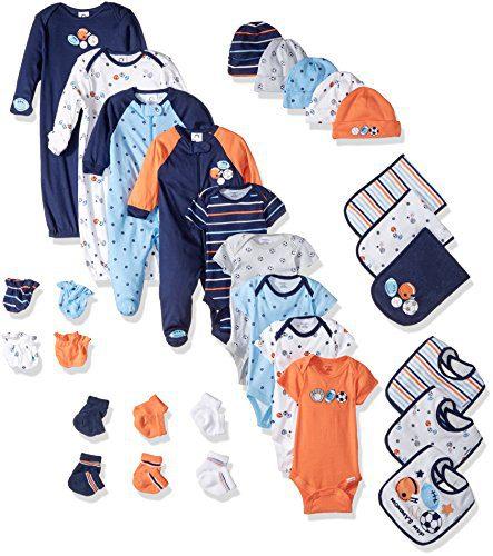 Gerber Baby Boys' 30-Piece Essentials Gift Set, Little Athlete