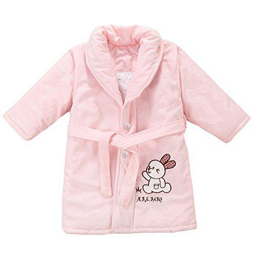Liveinu Baby Boy Girls Bathrobe Winter Toddler Flannel Robe