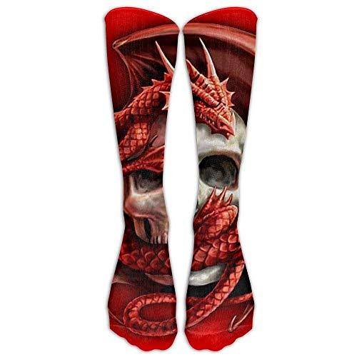 Snabeats Skull rican Flag Blue Red White Women & Men Knee High Socks