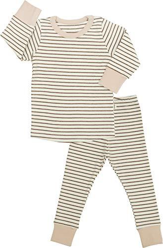 AVAUMA Baby Boys Girls Solid Stripe Pj Set Kids Pajamas