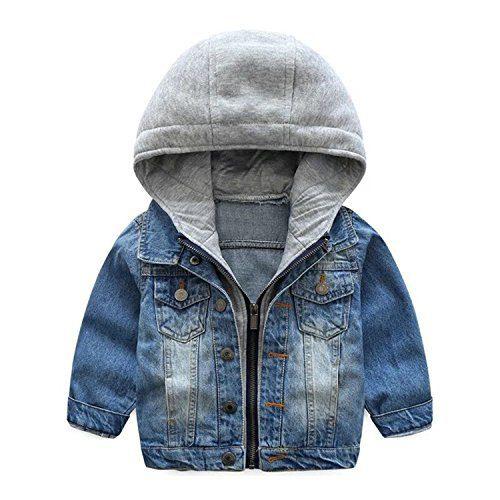 TJTJXRXR Little Boys Girls Cardigan Hooded Lapel Zipper
