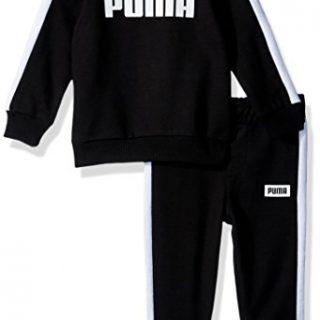 PUMA Baby Boys' Rebel 2 Piece Set, Black, 3-6 Months