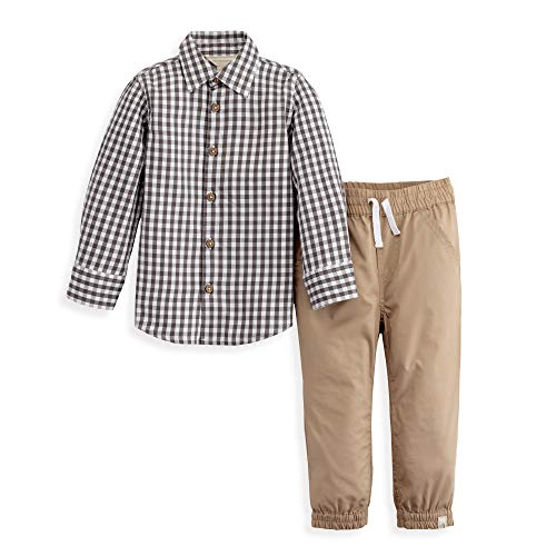Burt's Bees Baby Boys' Toddler Top and Pant Set