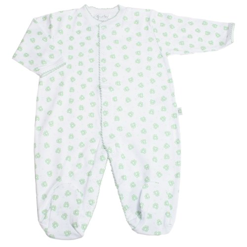 Kissy Kissy Print L/S Footie - Green-NB