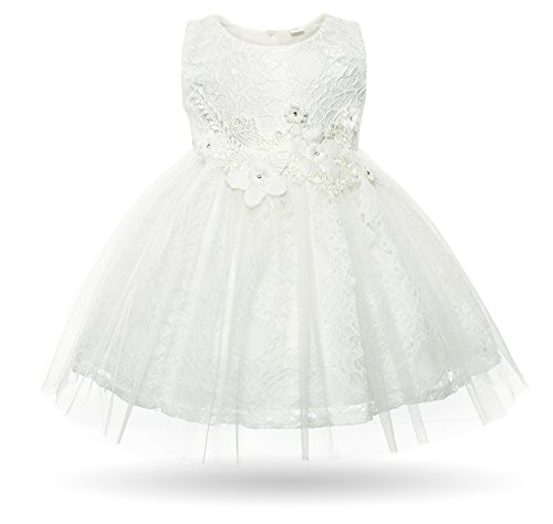 CIELARKO Baby Girl Dress Infant Flower Lace Wedding Party Dresses