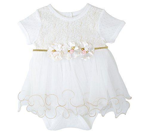 Taffy Baby Girl Newborn Gold Glitter Floral Short Sleeve Unique Tutu