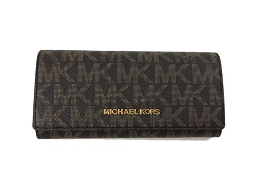 Michael Kors Jet Set travel Carryall Signature PVC Clutch wallet