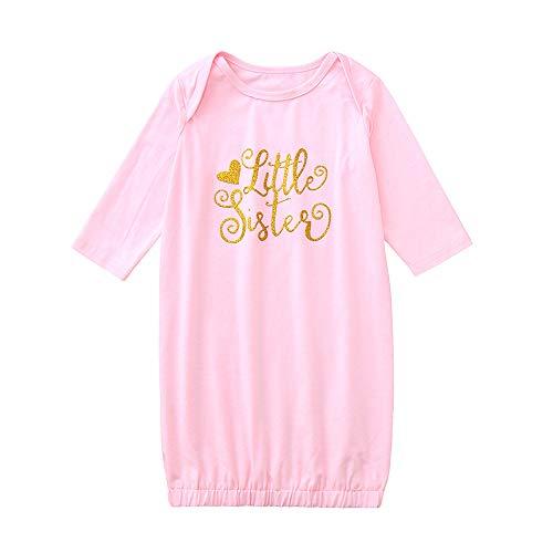 Sameno Newborn Infant Baby Pajamas Girls Letter Print Long Sleeve