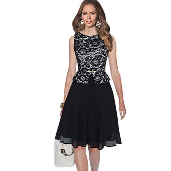 Oxiuly Top Fashion Women Chiffon Lace Dot Plaid Stretchy
