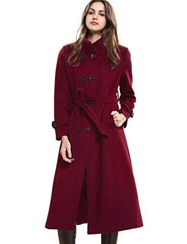 Escalier Women's Double-Breasted Trench Coat Wool Jacket