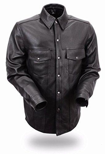 First Manufacturing Men's Lightweight Leather Shirt
