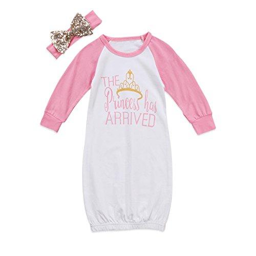 gllive 2PCS Newborn Baby Girl Cotton Sleepwear Pajamas Robe