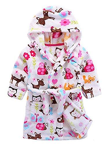 Toddler Kids Girls Robe,Children's Hooded Bathrobes Robes Pajamas