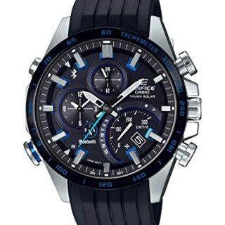Casio Men's Edifice Stainless Steel Quartz Watch with Rubber Strap