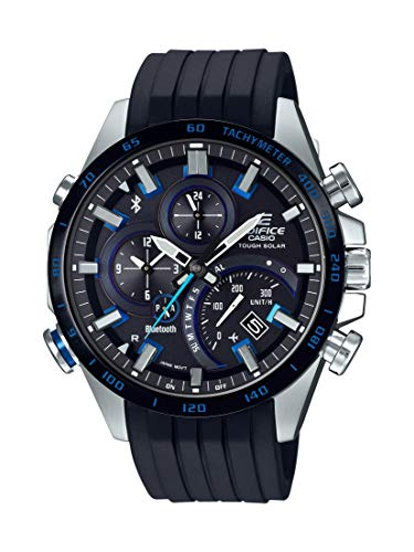 Casio Men's Edifice Stainless Steel Quartz Watch with Rubber Strap