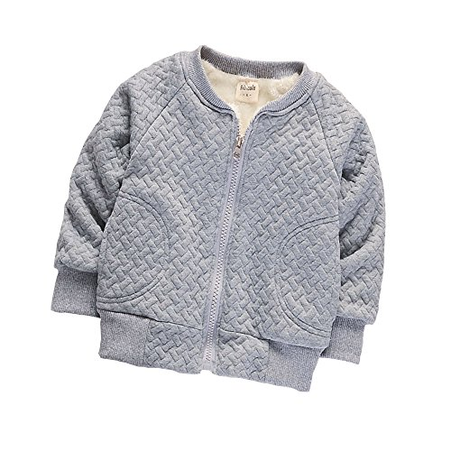 BibiCola Baby Boy Warm Coat Little Girl Fleece Jacket For Winter