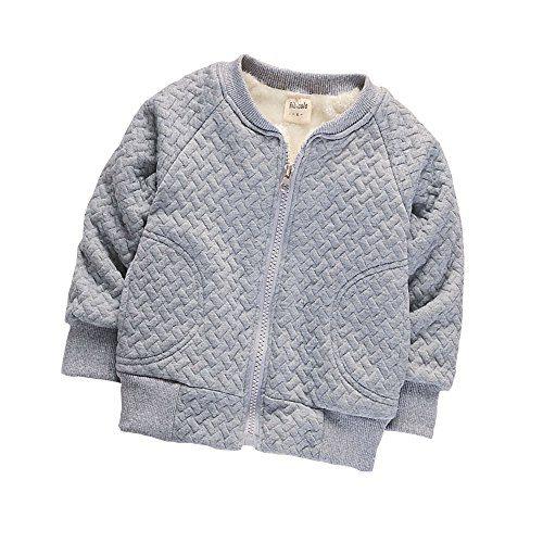 BibiCola Baby Boy Warm Coat Little Girl Fleece Jacket For Winter