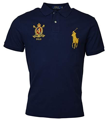 Polo Ralph Lauren Mens Custom Slim Fit Big Pony Crest Polo Shirt