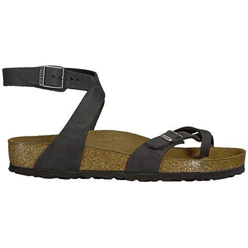 Birkenstock Unisex Yara Leather Black Sandals