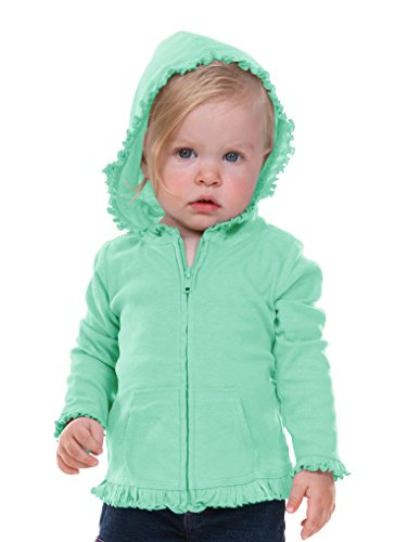 Kavio! Infants Sunflower Long Sleeve Zip Hoodie Ice Green 12M