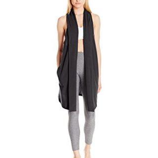 Lucy Women's Calm Heart Wrap Vest, Black, M