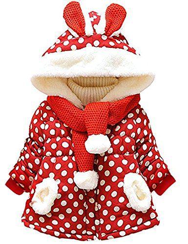 Garsumiss Baby Girl Jacket Thick Winter Hoodie Rabbit Bunny Coat