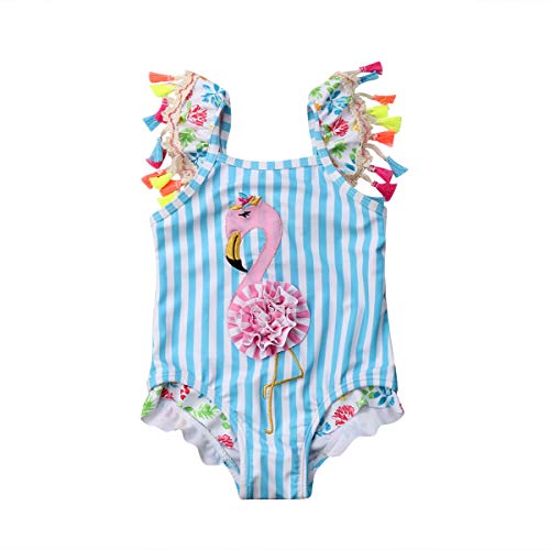 Kids Toddler Baby Girl One Piece Swimsuit Beach Wear