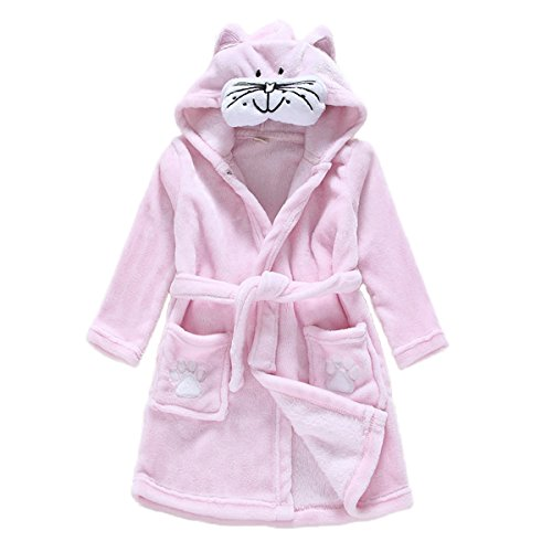 Toddler Baby Boys Girls Cartoon Bathrobe Flannel Robe