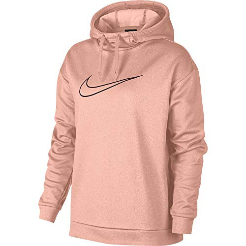 Nike Women's Therma Swoosh Fleece Training Hoodie Storm Pink