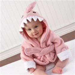 Baby Aspen Baby Girls' Hooded Shark Robe
