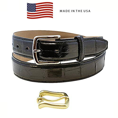 Size 32 Black Genuine Alligator Belt - American Factory Direct