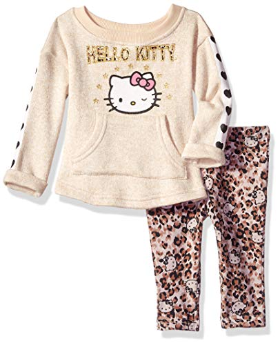 Hello Kitty Girls' Baby 2 Piece Legging Set, Oatmeal 12M