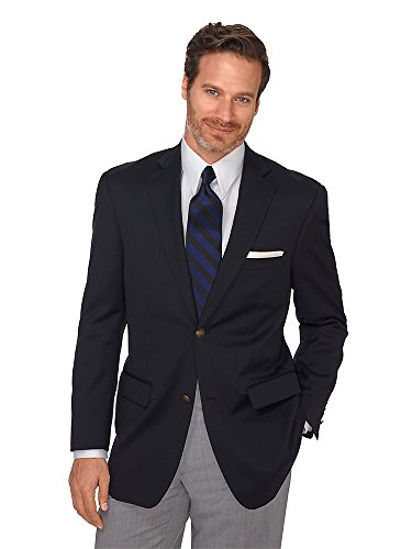 Paul Fredrick Men's Pure Wool Travel Blazer Black