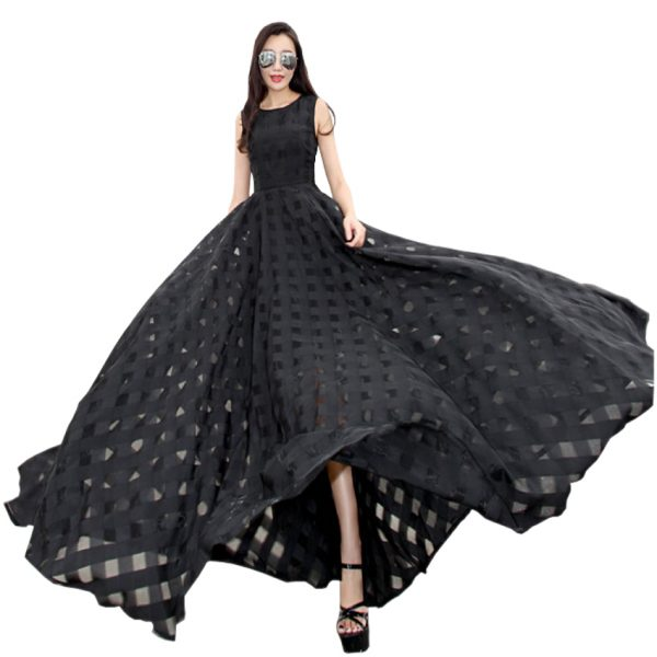 19 New Womens Summer Dress Elegant Vintage Black White