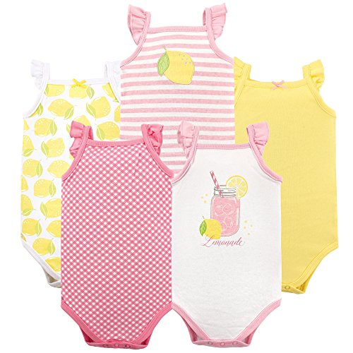 Hudson Baby Baby Sleeveless Bodysuits, Lemonade 5-Pack