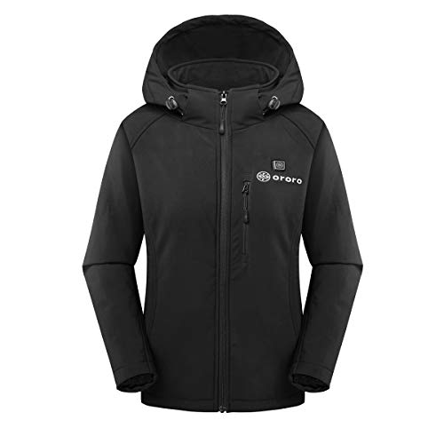 ORORO Women's Slim Fit Heated Jacket with Battery Pack