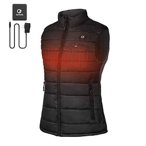 OUTCOOL Women's Heated Vest Lightweight Slim Fit