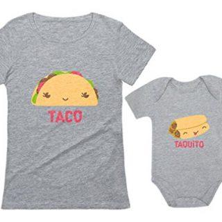 Taco & Taquito Baby Bodysuit & Women's T-Shirt Set