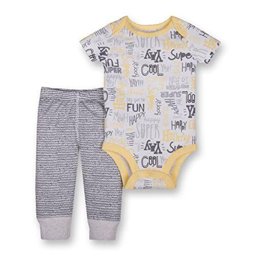 Lamaze Organic Baby Baby Organic 2 Piece Bodysuit and Pant Set