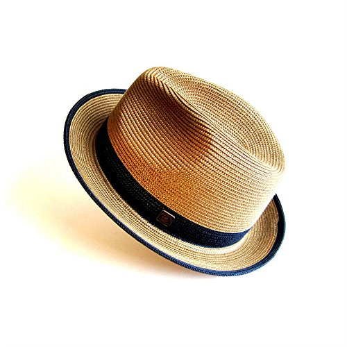 Dasmarca Mens Summer Crushable & Packable Straw Fedora Hat
