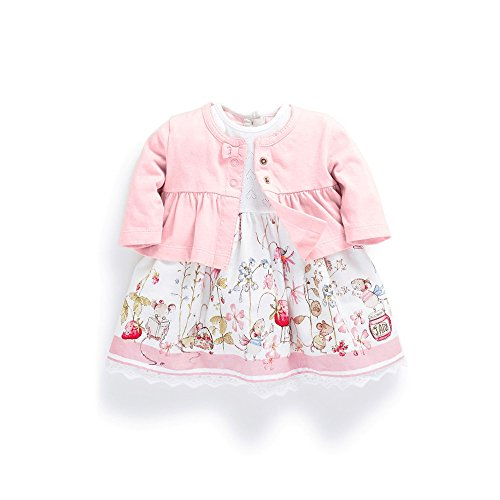 FERENYI Baby Girl's Clothes Long-Sleeved Jacket with Floral Dress Sets