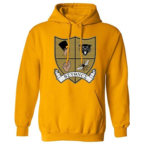 Beyoncé Crest Patch Pullover Hoodie (Medium) Gold