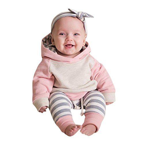 Xmas gift Baby Girls Boys Clothes Long Sleeve Hoodies