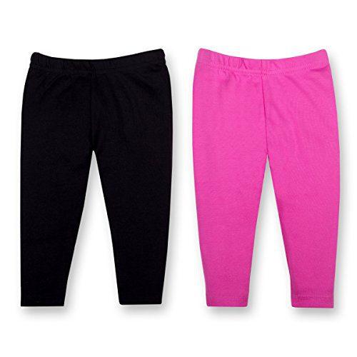 Lamaze Organic Baby Baby Girls Organic 2 Pack Pants, Black NB