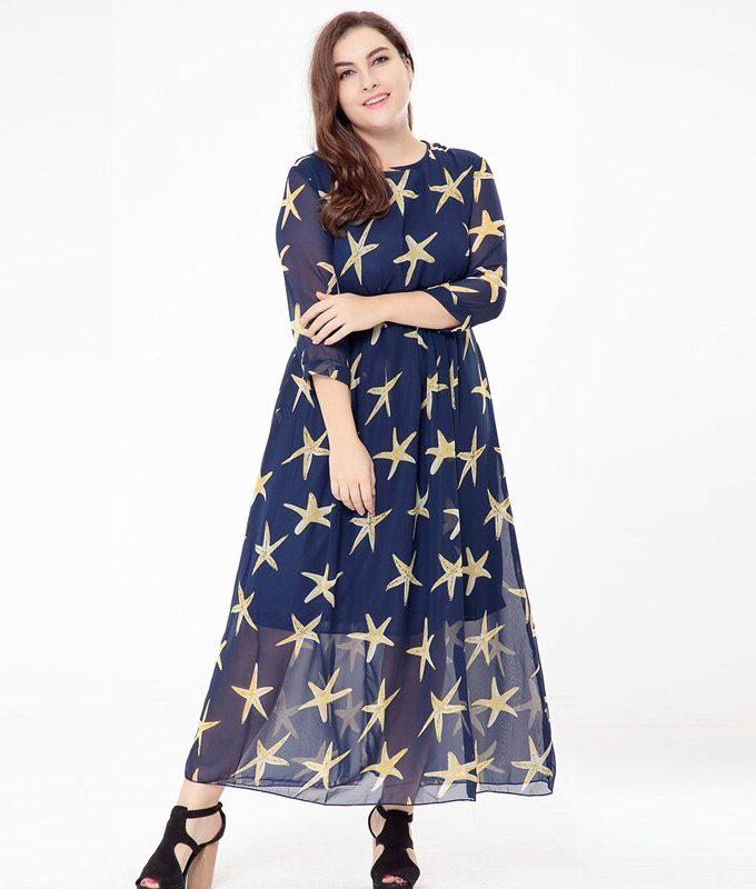 femme Boho big size Fat MM Elegant Chiffon Summer Dress