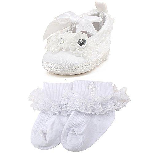 OOSAKU Baby Girls Christening Baptism Shoes Wedding Party Slipper