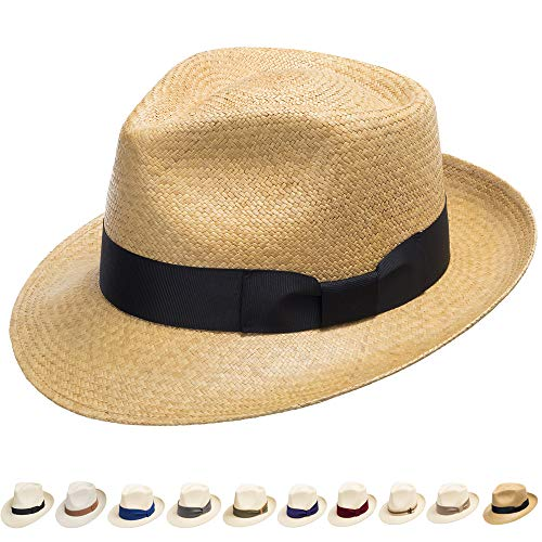 Ultrafino Genuine Havana Classic Panama Straw Dress Hat