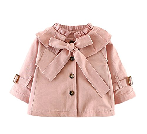 Baby Girls Spring Autumn Princess Bowknot Outerwear Jacket