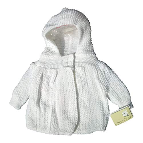 Baby Dove knited (Popcorn Style) Crocheted Sweater jacket with hood